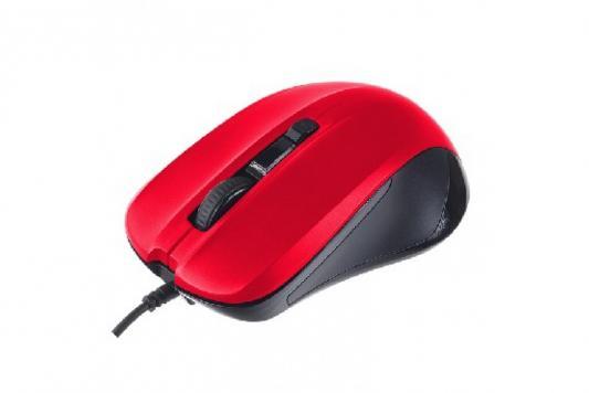 Perfeo мышь оптическая, REGULAR, 4 кн, DPI 800-1600, USB, красный (PF-381-OP-RD) мышь perfeo parad usb white red pf 953 wop w r
