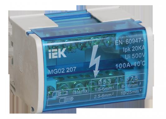 Iek YND10-2-07-100 Шины на DIN-рейку в корпусе (кросс-модуль) ШНК 2х7 L+PEN ИЭК