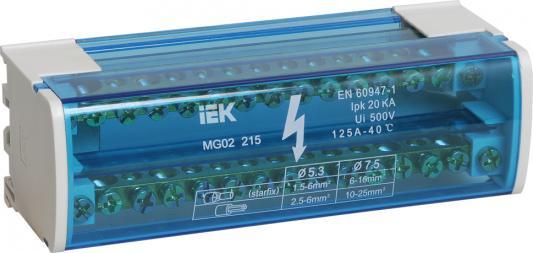 Iek YND10-2-15-125 Шины на DIN-рейку в корпусе (кросс-модуль) ШНК 2х15 L+PEN ИЭК