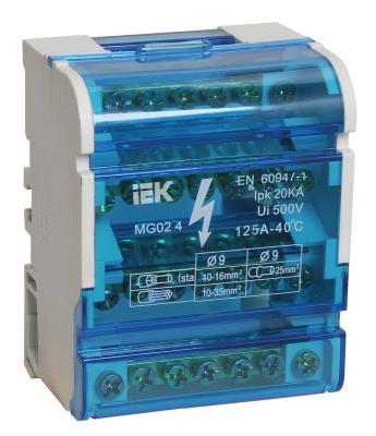 Iek YND10-4-07-100 Шины на DIN-рейку в корпусе (кросс-модуль) ШНК 4х7 3L+PEN ИЭК нулевая шина в корпусе 2х7 iek ynd10 2 07 100