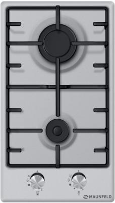 Варочная панель газовая Maunfeld EGHS.32.3ES серебристый газовая варочная панель neff t27cs59s0