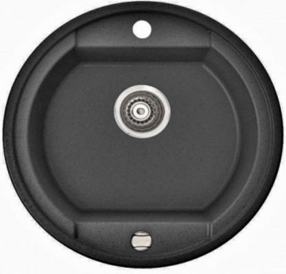 OTAGO, 505 803 012, цвет black METALIC(чер.металл),мойка врезная,гранит,одна чаша(1b), 500х500х190 кухонная мойка kuppersberg modena 1b black 7058