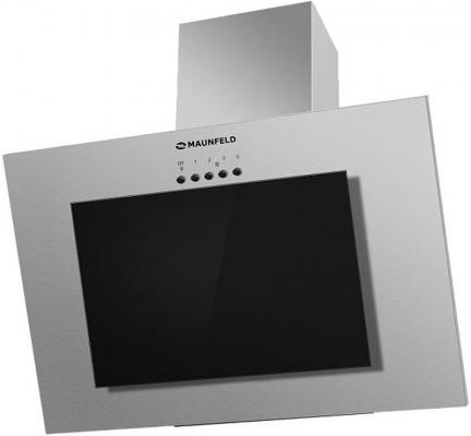 Вытяжка подвесная Maunfeld Tower GS 90 нержавеющая сталь\\черное стекло черный/нержавеющая сталь вытяжка со стеклом maunfeld tower gs 50 нержавейка черное стекло