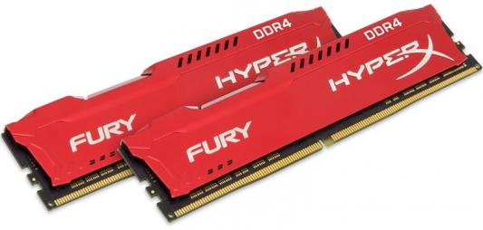 Kingston DDR4 DIMM 32GB Kit 2x16Gb HX426C16FRK2/32 {PC4-21300, 2666MHz, CL16, HyperX Fury Red}