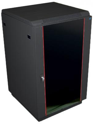 ЦМО! Шкаф телекоммуникационный напольный 22U (600x800) дверь стекло, цвет чёрный (ШТК-М-22.6.8-1ААА-9005)