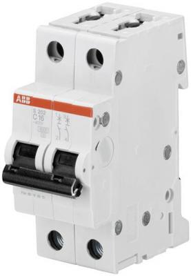 ABB 2CDS252001R0164 Автомат.выкл-ль 2-полюсной S202 C16 автомат 2p 16а тип с 6 ka abb s202