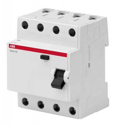 ABB 2CSF604041R1250 Выкл.диф.тока 4P, 25A, 30мА, AC, BMF41425