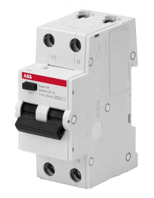 ABB 2CSR645041R1164 Выкл. авт. диф. тока, 1P+N, 16А, C, 4.5kA,30мА, AC, BMR415C16
