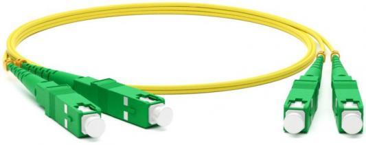 Hyperline FC-D2-9-SC/AR-SC/AR-H-1M-LSZH-YL Патч-корд волоконно-оптический (шнур) SM 9/125 (OS2), SC/APC-SC/APC, 2.0 мм, duplex, LSZH, 1 м ship патч корд оптоволоконный ship sc apc sc apc sm 9 125 simplex 3 0мм 3 м