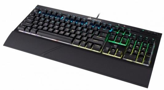 Клавиатура проводная Corsair Gaming K68 RGB Cherry MX Red USB черный CH-9102010-RU клавиатура red square tesla