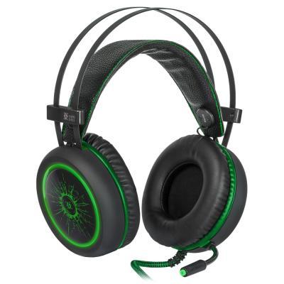 Игровая гарнитура проводная Defender G-530D черный зеленый