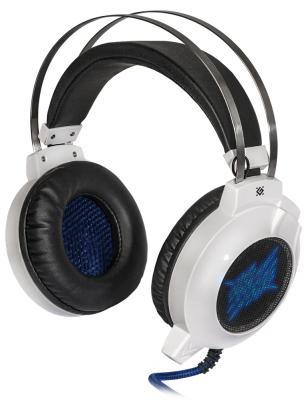 Игровая гарнитура проводная Defender G-510D белый синий