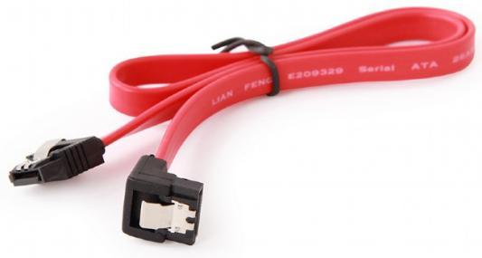 Cablexpert Кабель интерфейсный SATA 50см, угловой разъем, 7pin/7pin, защелка, пакет (CC-SATAM-DATA90)
