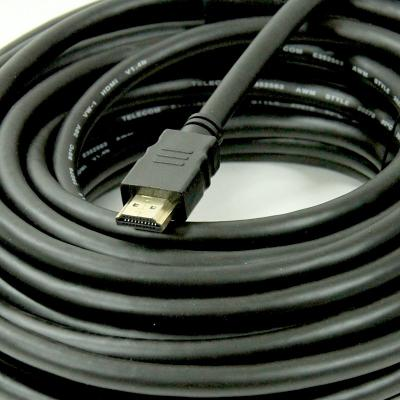 Фото - Кабель HDMI 25м VCOM Telecom CG511D-25M круглый черный кабель hdmi 25м vcom telecom cg511d 25m круглый черный