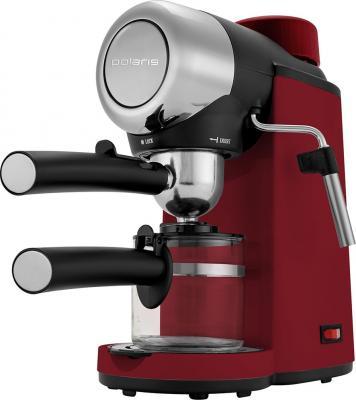 Кофеварка эспрессо Polaris PCM 4007A 800Вт красный кофеварка эспрессо polaris pcm 1530ae adore cappuccino 1350вт нержавеющая сталь черный