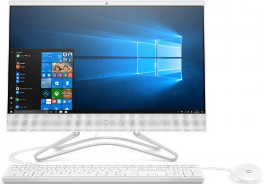 Моноблок HP 22 22-c0036ur <4HE17EA> i5-8250U (1.6GHz)/8Gb/1TB+128GB SSD/no DVD/21.5 (1920x1080)/GT MX110 2GB/WiFi/KB+mouse/Win10/Snow White моноблок hp 22 c0043ur 4hc58ea 22 fullhd touch core i7 8700t 8gb 1tb 256gb ssd nv mx110 2gb kb m win10 black