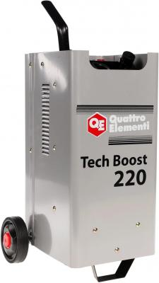 Пуско-зарядноеустройствоQUATTROELEMENTI771-435 TechBoost220 (12/24Вольт,заряддо30А,пу инвертор quattro elementi b 205 205 а пв 80% до 5 0 мм 5 3 кг дисплей tig lift от 170в кейс