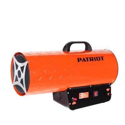 лучшая цена Тепловая пушка газовая Patriot GS 50 50000 Вт термостат Ручка для перемещения оранжевый чёрный 633445024