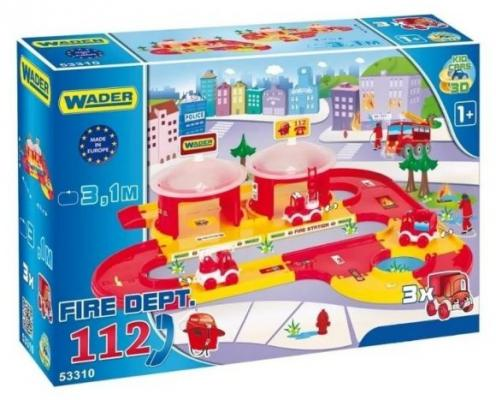 Пожарная станция Wader Пожарная команда красный 53310
