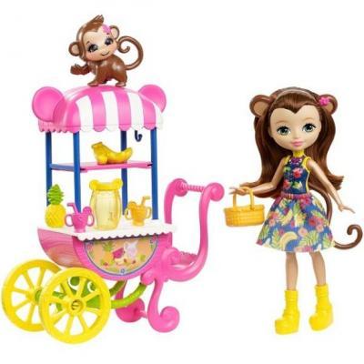 Купить Кукла Enchantimals со зверюшкой и транспортным средством в асс-те, MATTEL, 15 см, пластик, текстиль, Классические куклы и пупсы