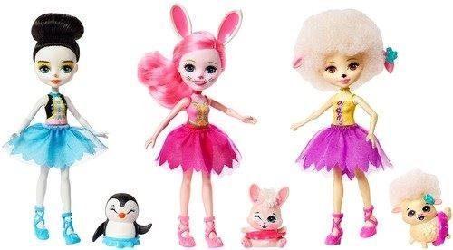 Купить Набор из трех кукол Enchantimals Волшебные балерины, MATTEL, 15 см, пластик, текстиль, Классические куклы и пупсы