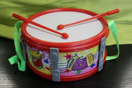 Купить Барабан 23 см большой, MAREK, разноцветный, Детские музыкальные инструменты