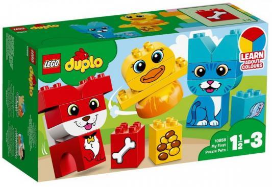 Конструктор LEGO Мои первые домашние животные 18 элементов lego животные в парке 31044