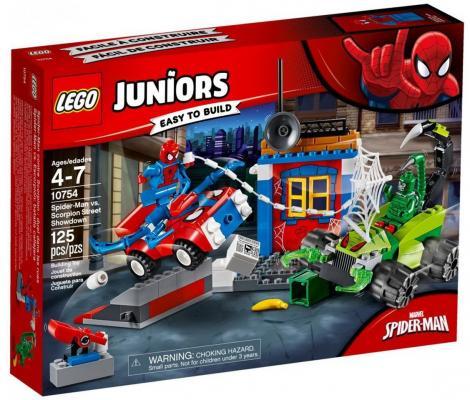 Конструктор LEGO Решающий бой Человека-паука против Скорпиона 125 элементов