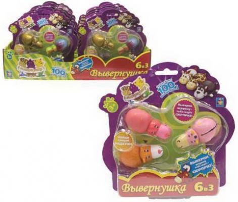 Купить Мягкая игрушка вывернушка 1toy Т10872 пластик в ассортименте, Интерактивные мягкие игрушки