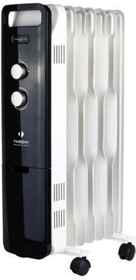 Масляный радиатор Timberk TOR 51.1507 BTQ 1500 Вт белый чёрный радиатор масляный timberk tor 21 1507 bc