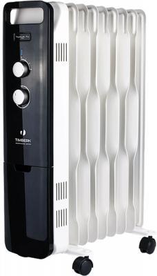 Масляный радиатор Timberk TOR 51.2009 BTQ 2000 Вт белый чёрный радиатор масляный timberk tor 21 1507 bc