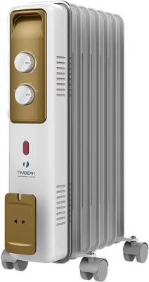 Масляный радиатор Timberk TOR 21.1507 BCX i 1500 Вт белый серый бронзовый биокамин silver smith mini 3 premium 1500 вт серый