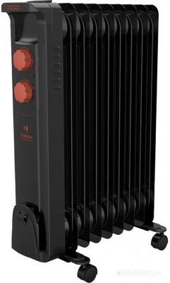 Масляный радиатор Timberk TOR 21.1206 BCL 1200 Вт термостат ручка для переноски колеса для перемещения обогрев чёрный цена
