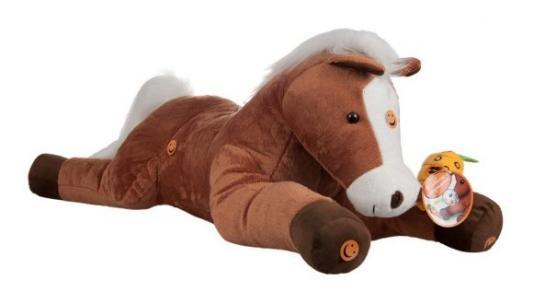 Купить Лошадь Игогоша интерактивный 100 см., Teeboo, белый, коричневый, пластик, текстиль, Животные