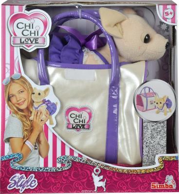 Мягкая игрушка собака SIMBA Чихуахуа в платье пластик текстиль 20 см погремушки simba игрушка 15 см