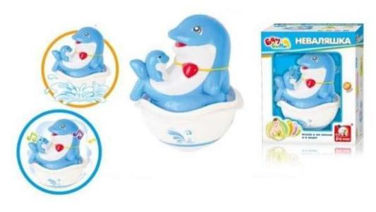 Неваляшка S+S TOYS Бамбини: Дельфинчики s s toys 00662603 пианино бамбини