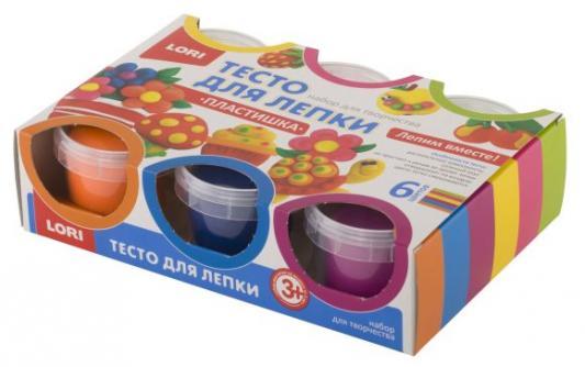 Тесто для лепки Пластишка, 6цв. lori тесто для лепки пластишка 6цв по 80 гр