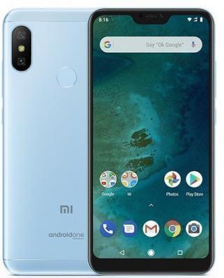 Смартфон Xiaomi Mi A2 Lite 32 Гб синий (MiA2Lt32GBBLU) смартфон honor 9 lite 32 гб синий lld l31 51092csh
