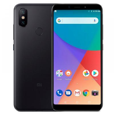 Смартфон Xiaomi Mi A2 64 Гб черный (MiA2GB64BLK) смартфон xiaomi mi a2 lite 32 гб золотистый mia2lt32gbgld