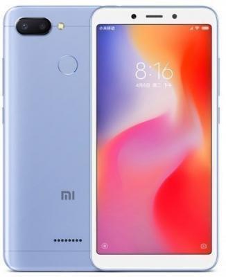 Смартфон Xiaomi Redmi 6 32 Гб синий (Redmi6BLU32GB) смартфон xiaomi redmi 6 32 гб золотистый redmi6gld32gb