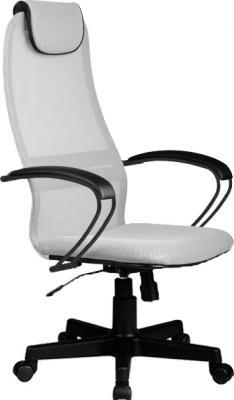 Кресло BP-8 PL № 24 сетка {светло-серая сетка металлические подлокотники со вставкой экокожи} nowley 8 6190 0 1