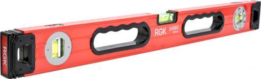Уровень RGK U4060 600мм 1мм/м 3 глазка магнит уровень rgk u5020