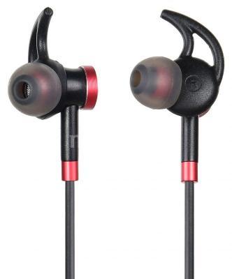 Гарнитура вкладыши Digma BT-04 черный/красный беспроводные bluetooth (в ушной раковине) цена