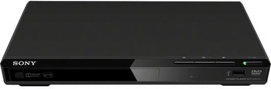 Плеер DVD Sony DVP-SR370 черный ПДУ dvd плеер sony dvp sr320b