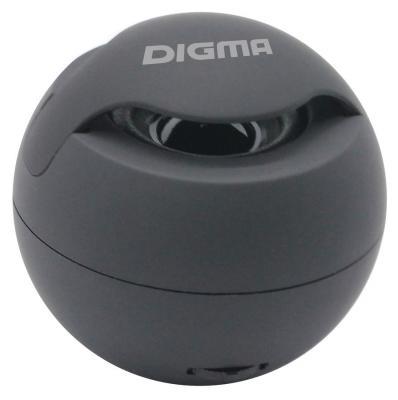 Колонка порт. Digma S-11 черный 3W 1.0 BT/USB (SP113B)