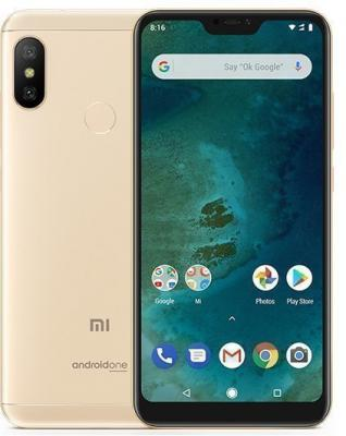 Смартфон Xiaomi Mi A2 Lite 32 Гб золотистый (MiA2Lt32GBGLD) смартфон xiaomi mi a1 64 гб золотистый mia1gd64gb