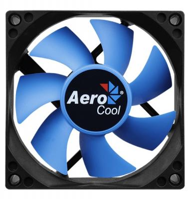 Вентилятор Aerocool Motion 8 Blue-3P 80x80mm 3-pin 25dB 90gr LED Ret inov 8 кроссовки roclite 295 жен 3 grey berry blue