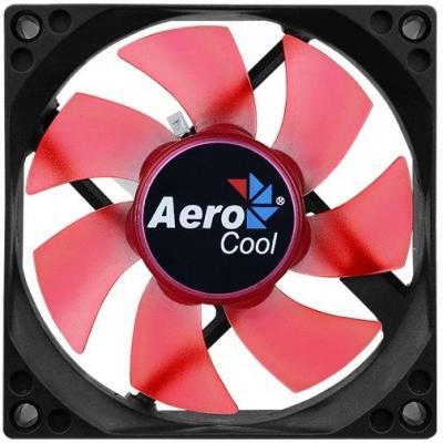 Вентилятор Aerocool Motion 8 Red-3P 80x80mm 3-pin 25dB 90gr LED Ret