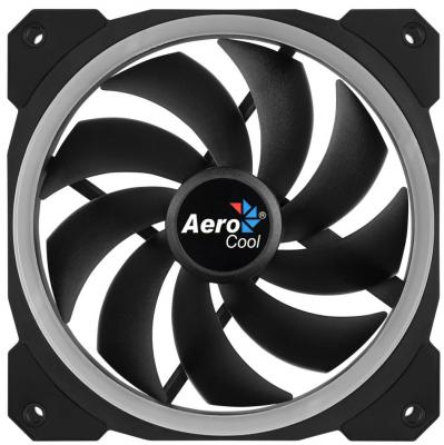 Вентилятор Aerocool Orbit 120x120mm 3-pin 14dB 153gr LED Ret цена