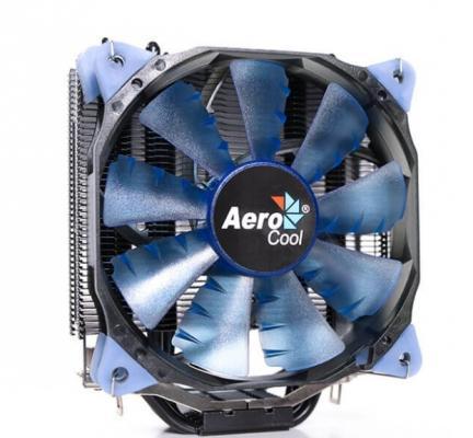 Устройство охлаждения(кулер) Aerocool Verkho 4 Dark Soc-FM2+/AM2+/AM3+/AM4/1150/1151/1155/2011/ 4-pin 18-26dB Al+Cu 140W 678gr Ret кулер aerocool verkho 4 lite